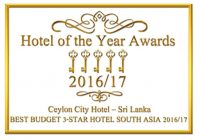 Best Budget Hotel South Asia by Hotel of the year Awards 2016/17